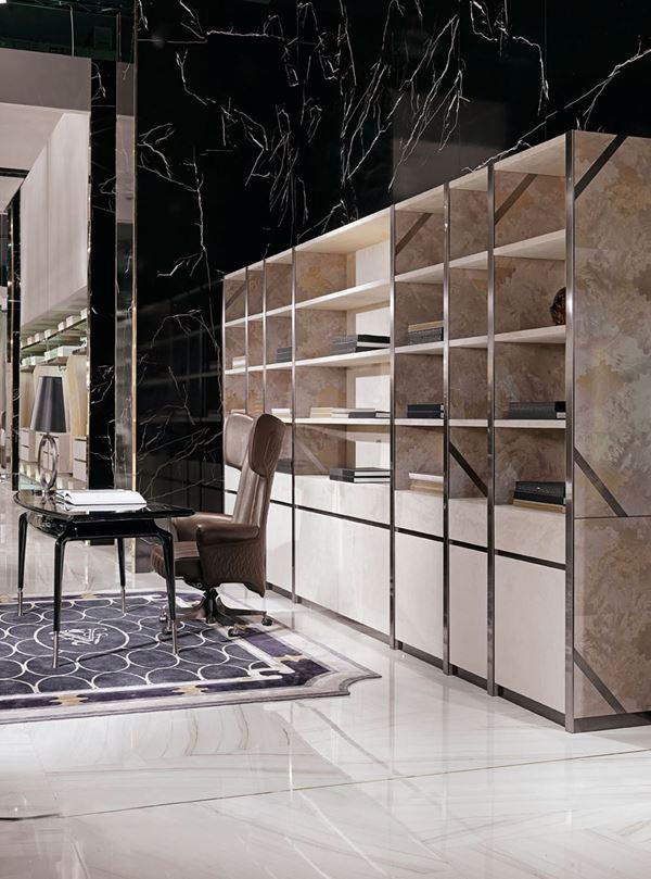 Visionnaire İtalyan Mobilya Gaynor Ofis ve Çalışma Odası Kitaplığı